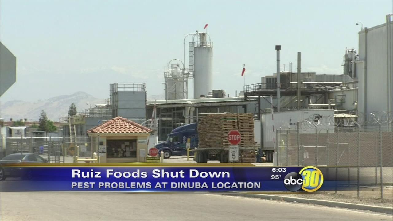 Ruiz Foods temporarily stops manufacturing at Dinuba facility