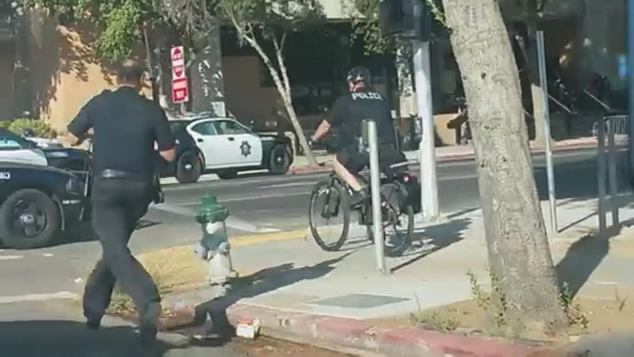 RAW VIDEO - Outside the Fresno County Jail during active shooter situation