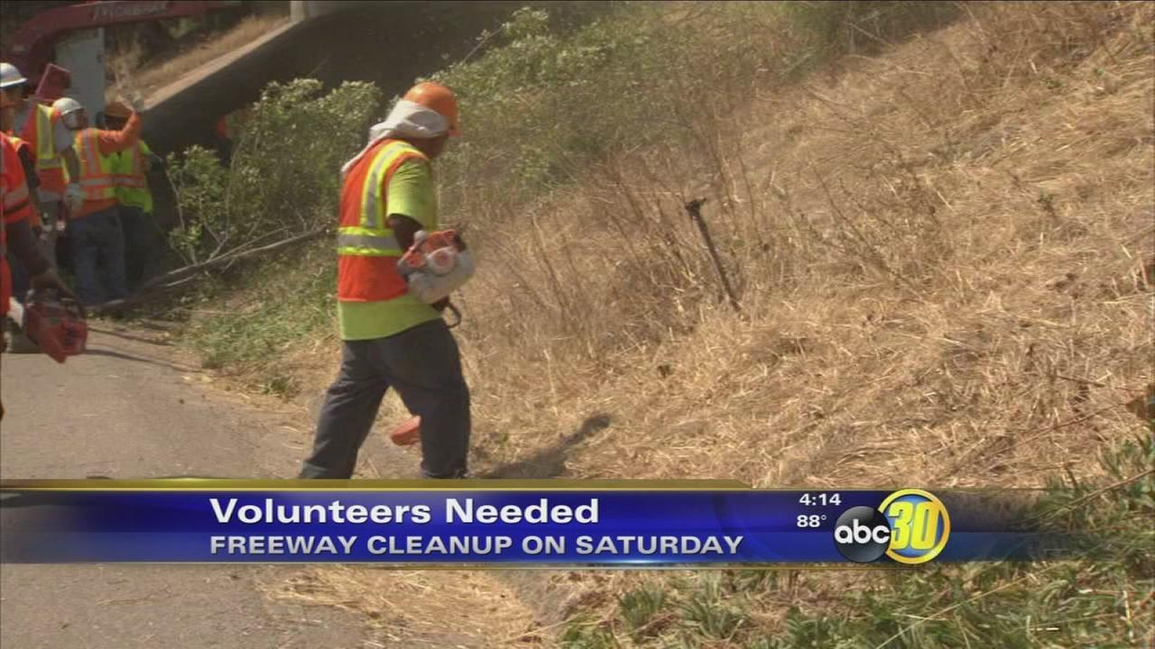 Volunteers needed to help clean up Fresno freeway