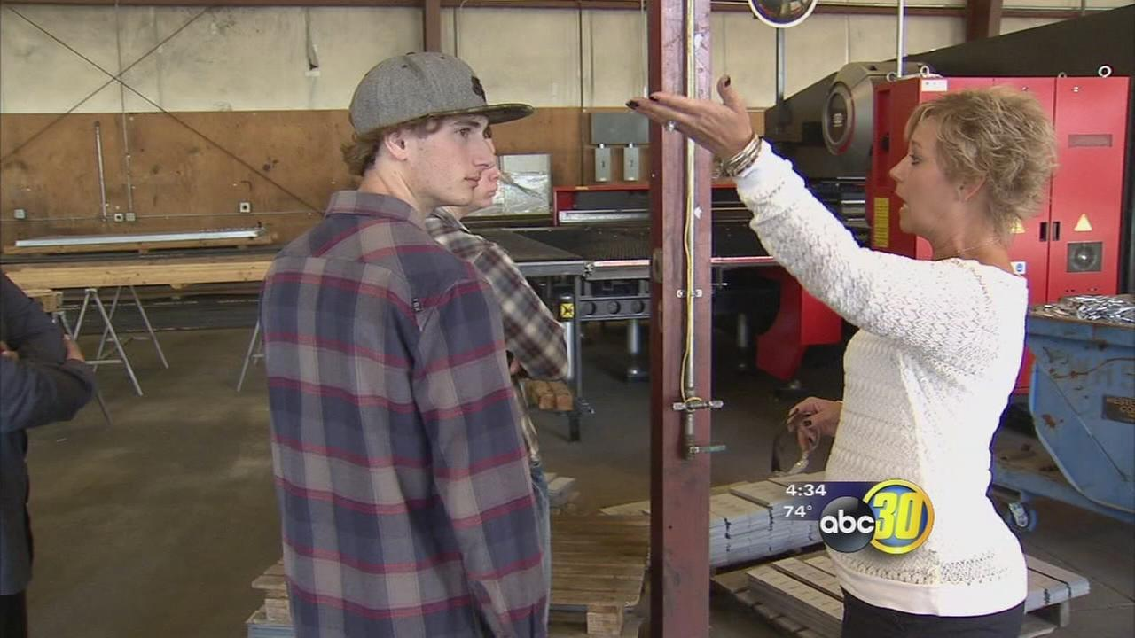 Local high school students enjoyed eye-opening visit to several companies
