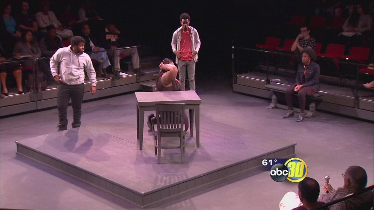 Fresno State students performed monologs to get message across about race relations in the country