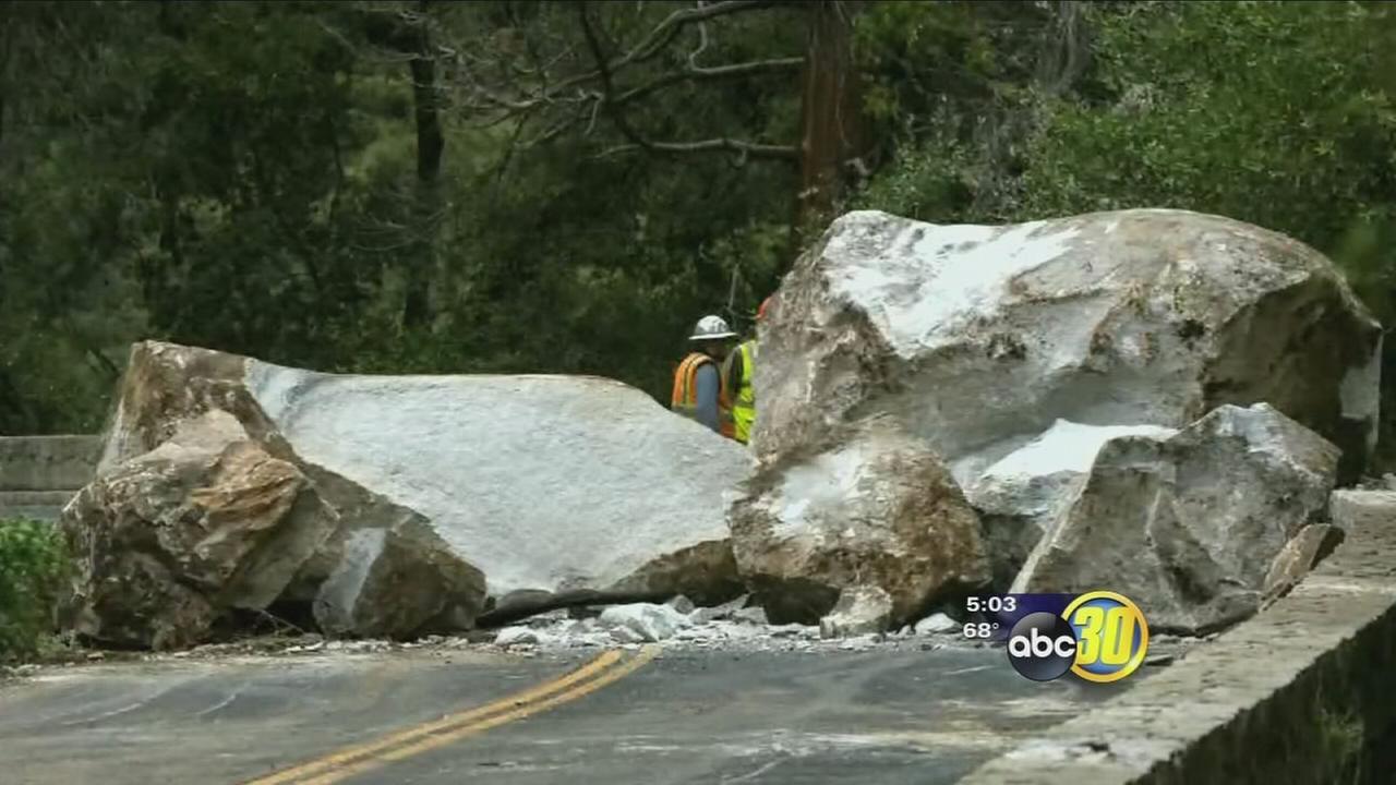 Rock slide closes major entrance to Yosemite National Park