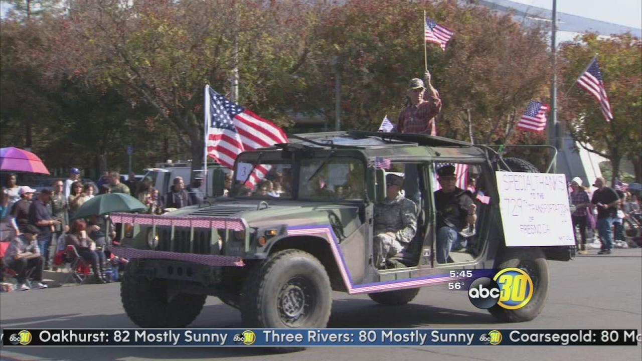 Veterans Day celebrations start early in Downtown Fresno
