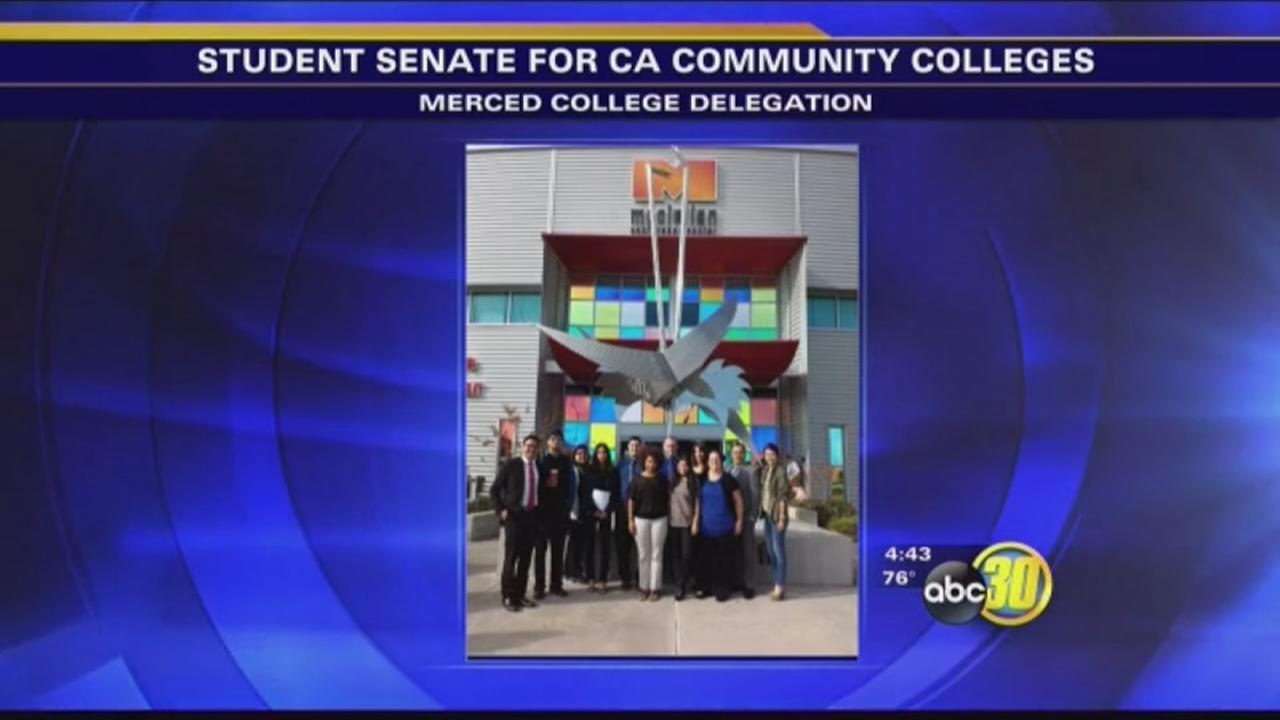 Merced College students participate in student senate in Sacramento