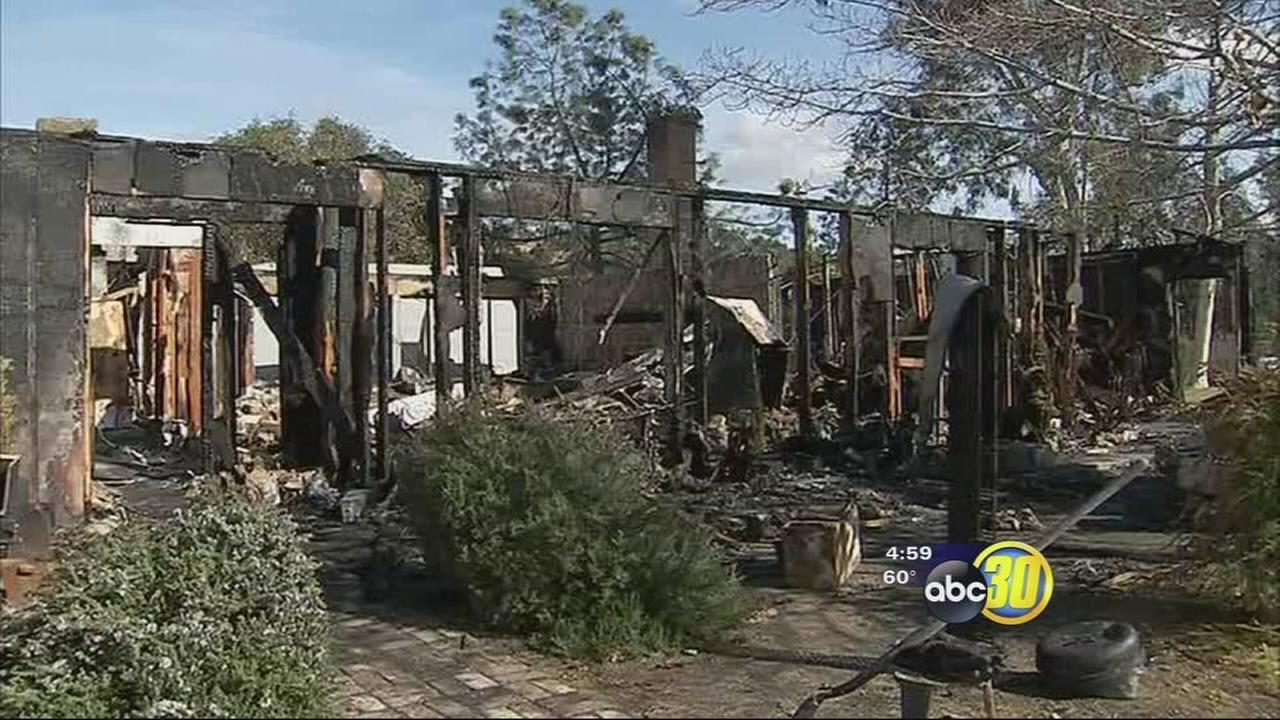 Coarsegold family loses everything in fire caused by fireplace