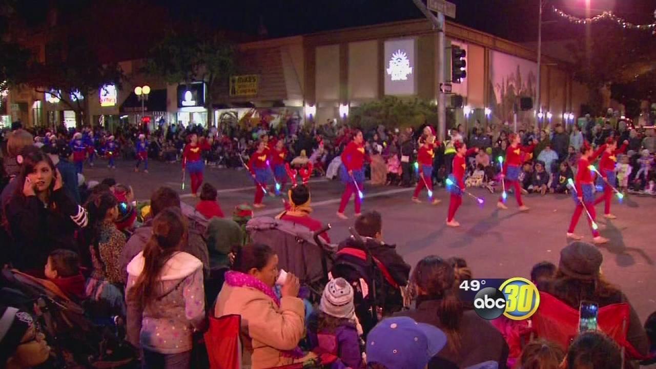 Candy Cane Lane Parade in Visalia