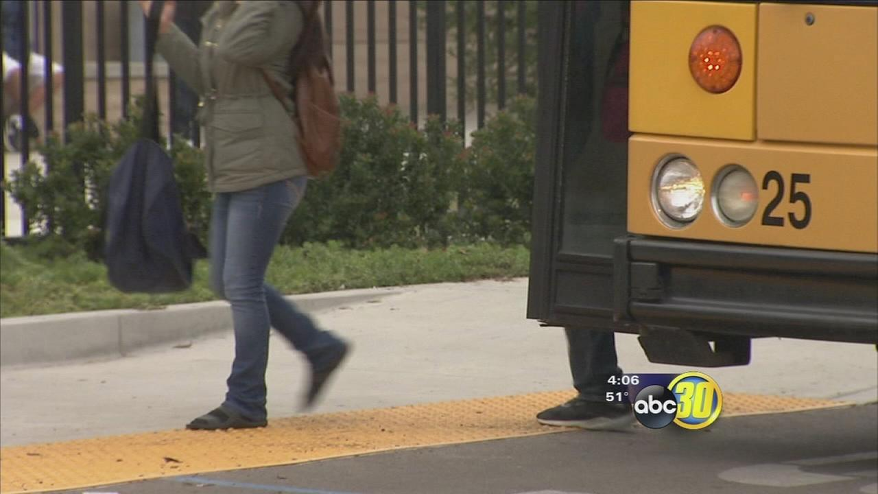Valley fog causing many school buses to get a late start
