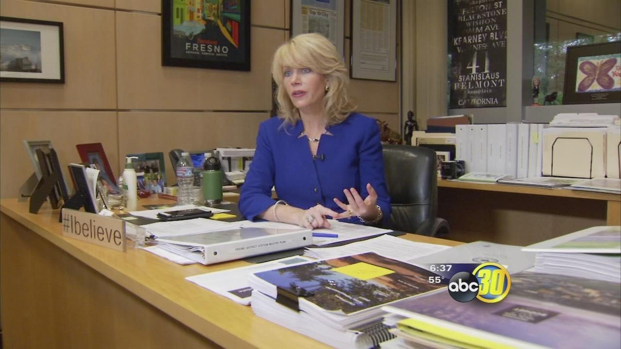 Fresno Mayor Ashley Swearengin says she is leaving city heading in the right direction