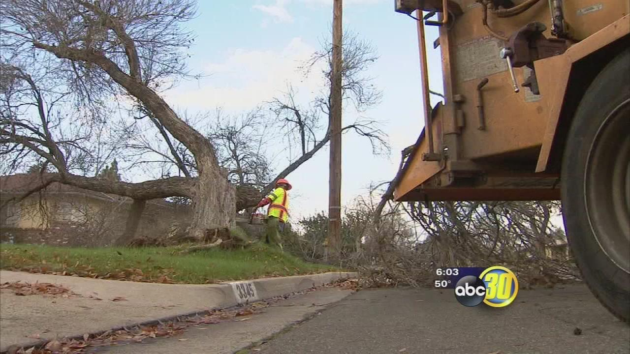 Emergency and city crews were kept busy as storm hit Fresno