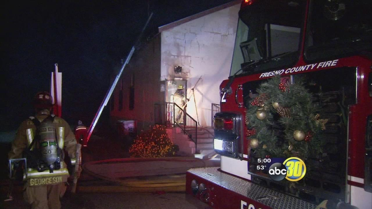 Firefighters quickly contain fire inside Fowler church