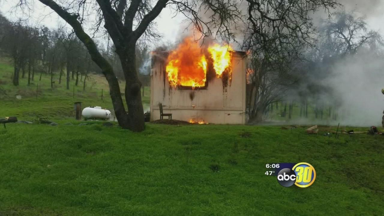 Fire destroys Squaw Valley trailer where a sexual predator had contracted to live