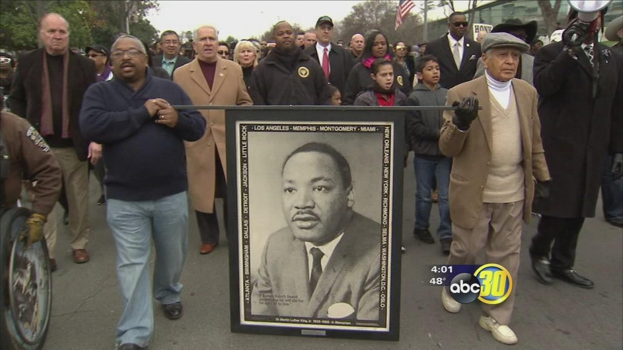 Thousands gather Downtown Fresno in remembrance of Martin Luther King Jr.