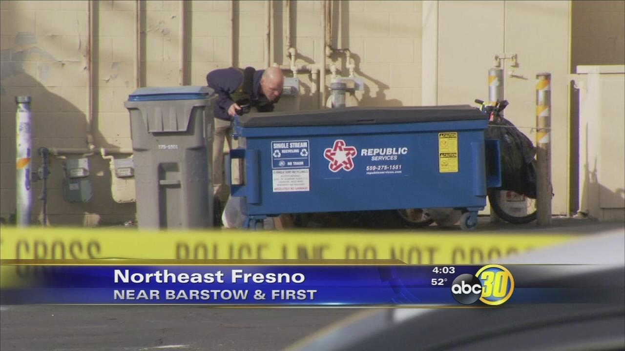 Fresno PD investigating homicide after a body was found behind a dumpster in Northeast Fresno