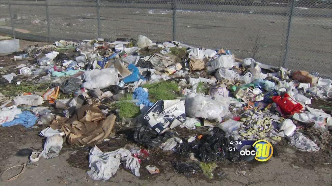 Fresno business owners complain of piling garbage around high-speed rail property
