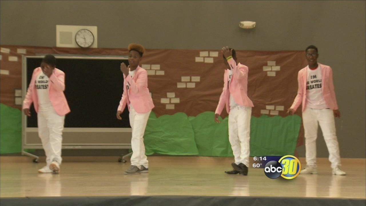 Students at Gaston Middle School kicked off Black History Month