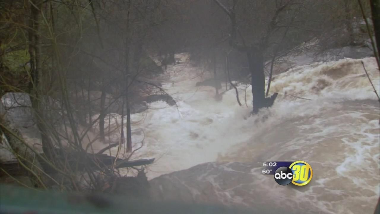 Rain in Madera County creating beautiful sites and hazards for drivers