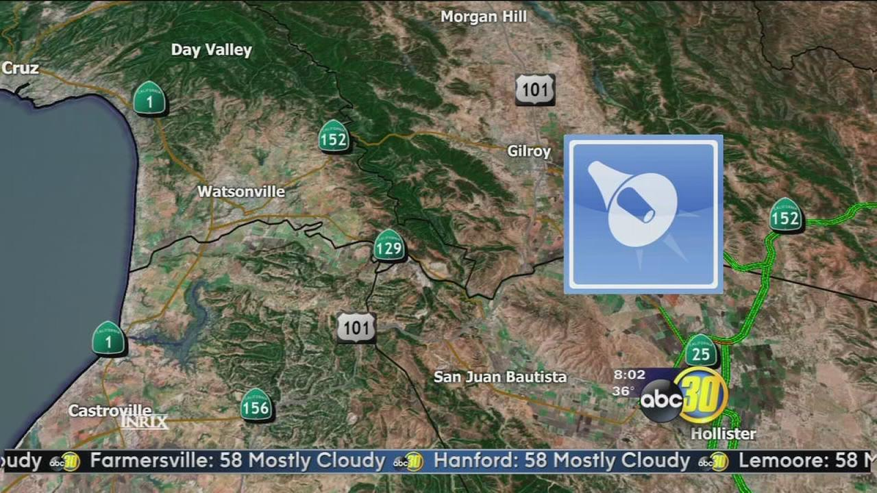 3.7 earthquake strikes near Gilroy