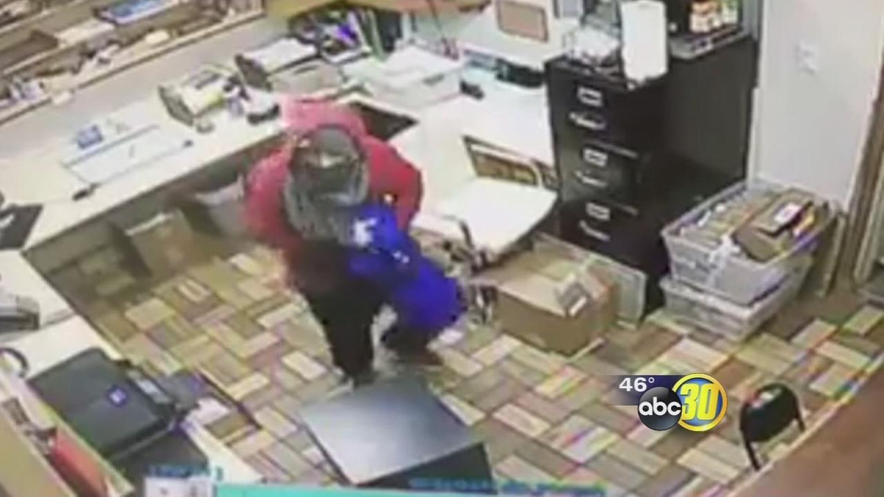 Cameras capture burglars raiding the only Planada pharmacy for cough syrup
