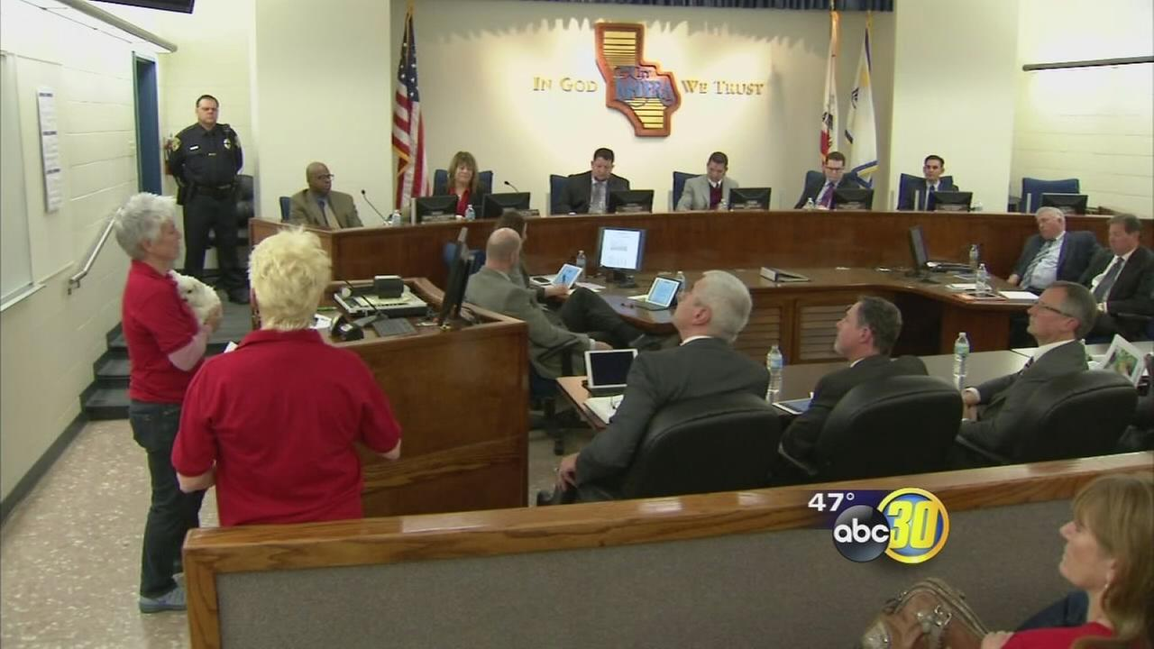 Members of a non-profit animal rescue organization asking the city of Madera for help
