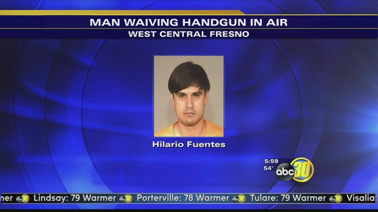 Police arrest man waiving gun on Fresno streets