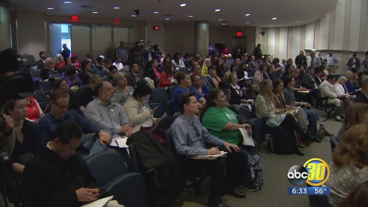 Supports of ACA speak out at hearing in Downtown Fresno