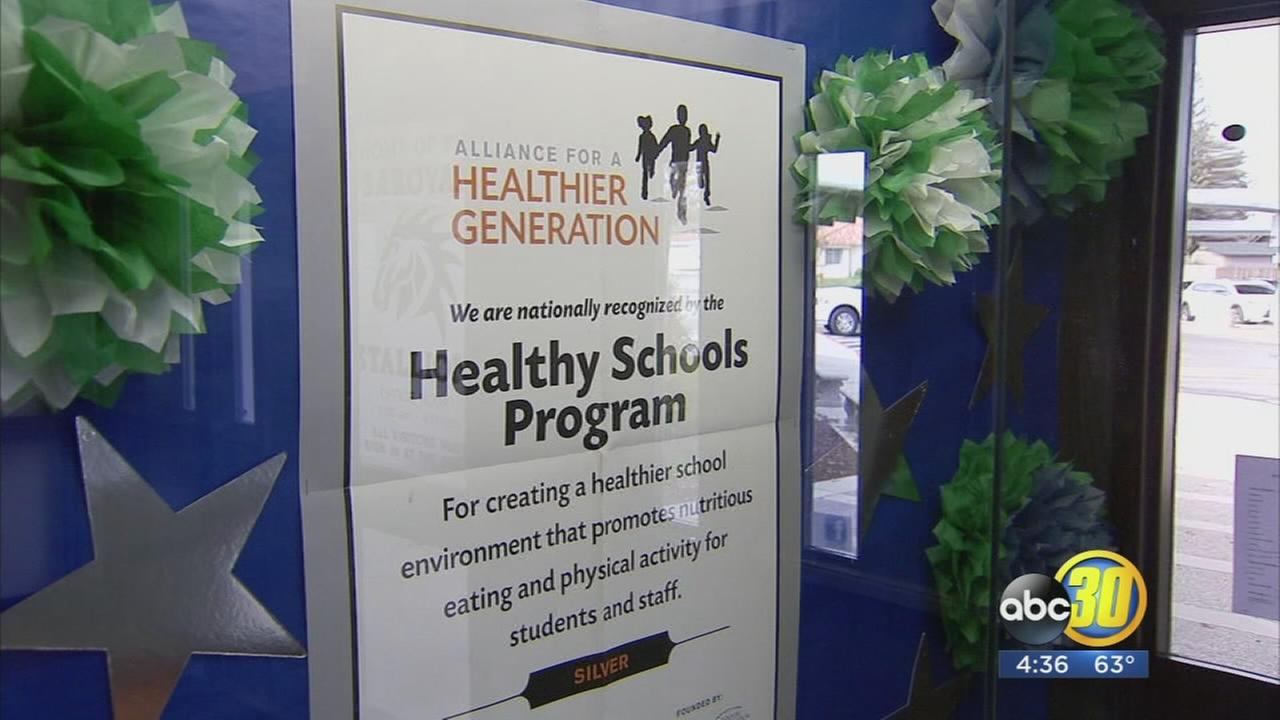Elementary school in Northwest Fresno being recognized for healthy living
