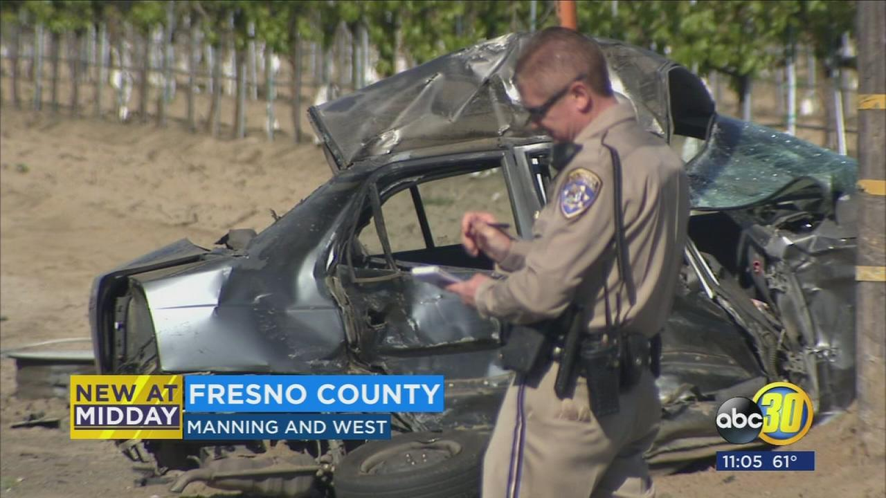 1 killed after car and big rig collide in Fresno County