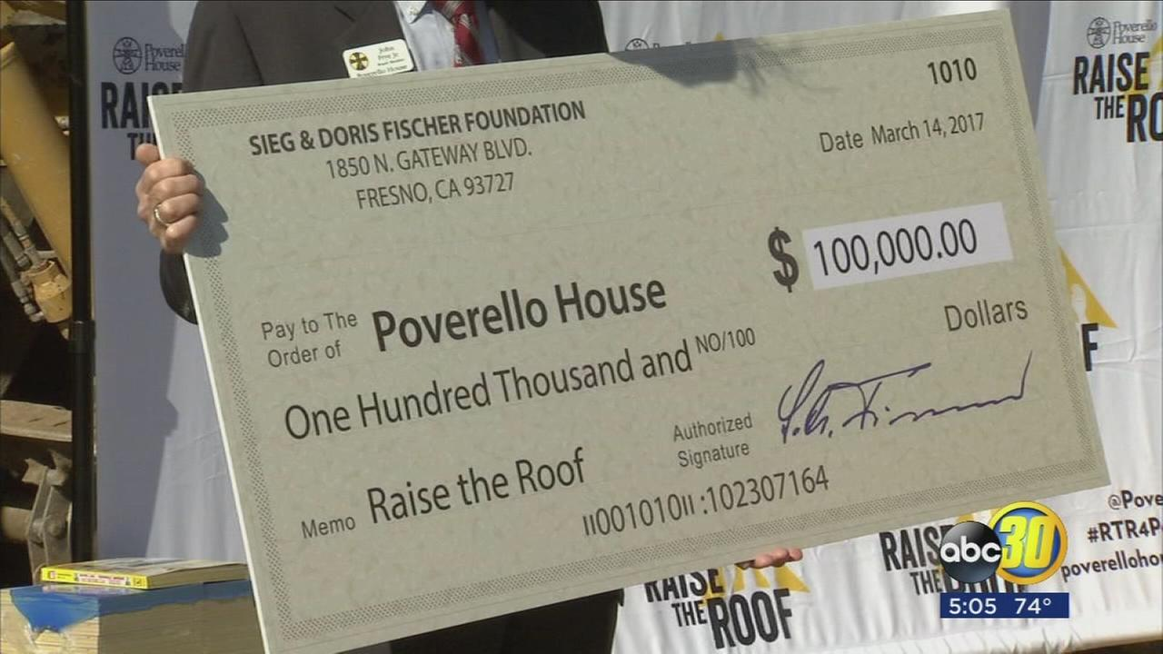 Poverello House receives $100,000 donation