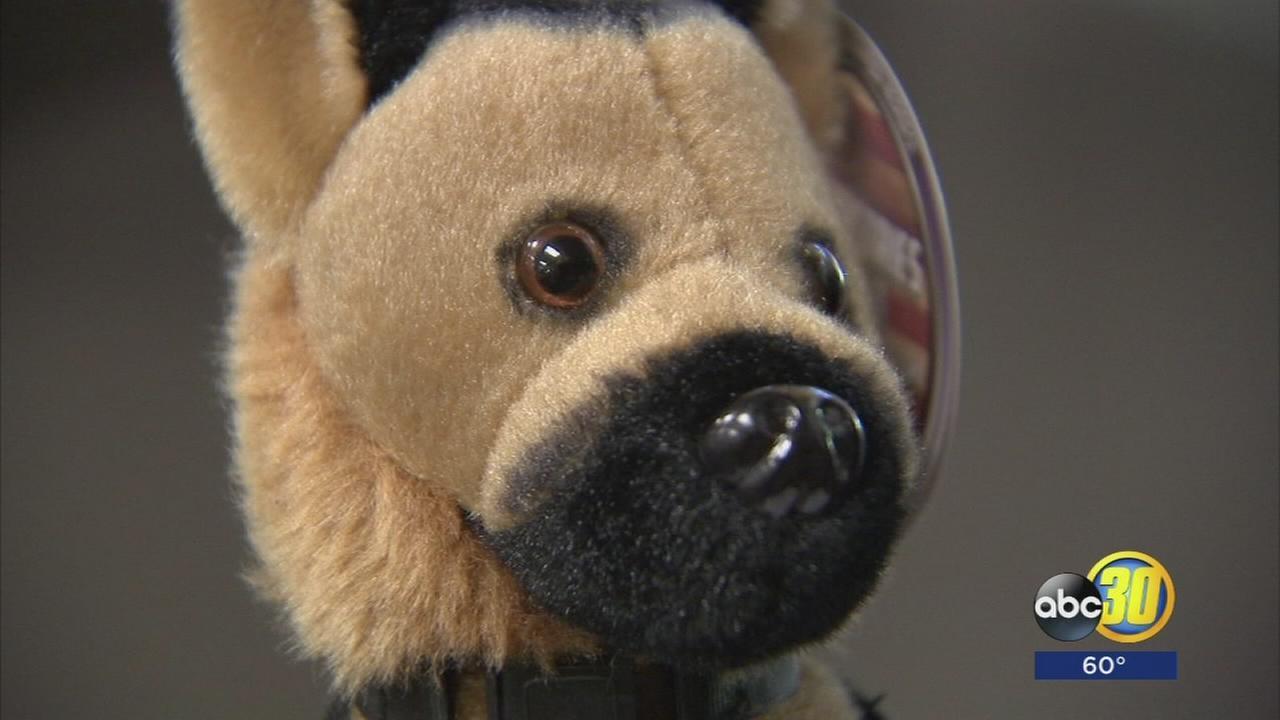 Stuffed K-9 dogs a hit in Clovis Police fundraiser