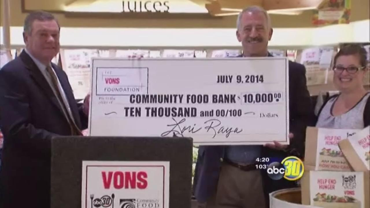 Vons and ABC30 team up for Feed the Valley food drive