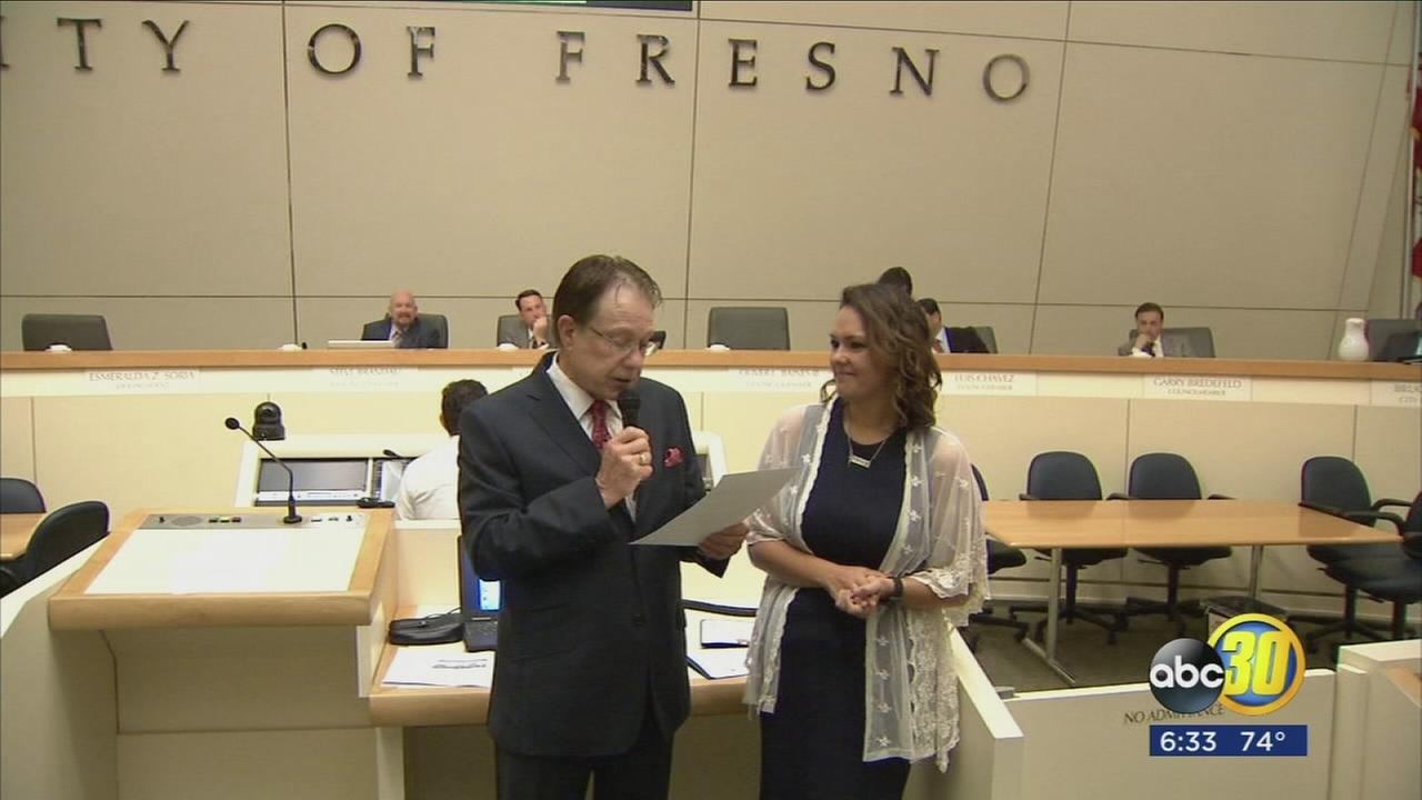Victim of UC Merced attack receives certificate of recognition from the City of Fresno