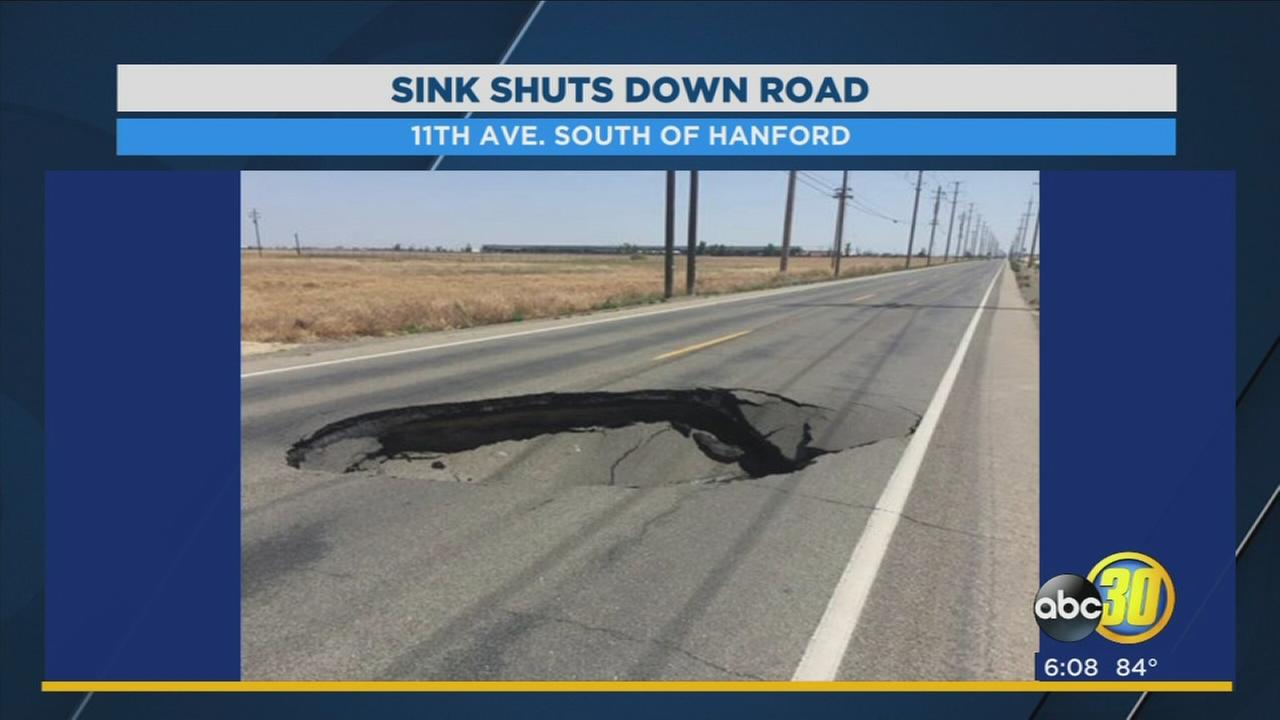 Road closed for a week after a sinkhole opens up in Kings County