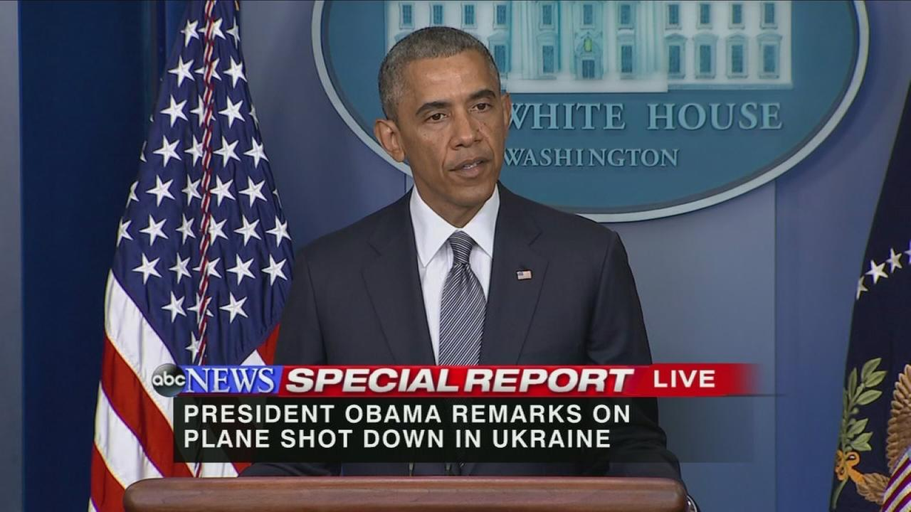 RAW VIDEO: President Obama remarks on plane shot down in Ukraine