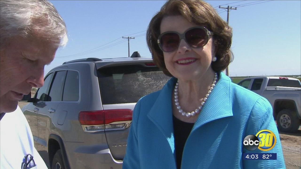 Senator Feinstein visits Central Valley, criticizes Presidents decision to dump climate change policies