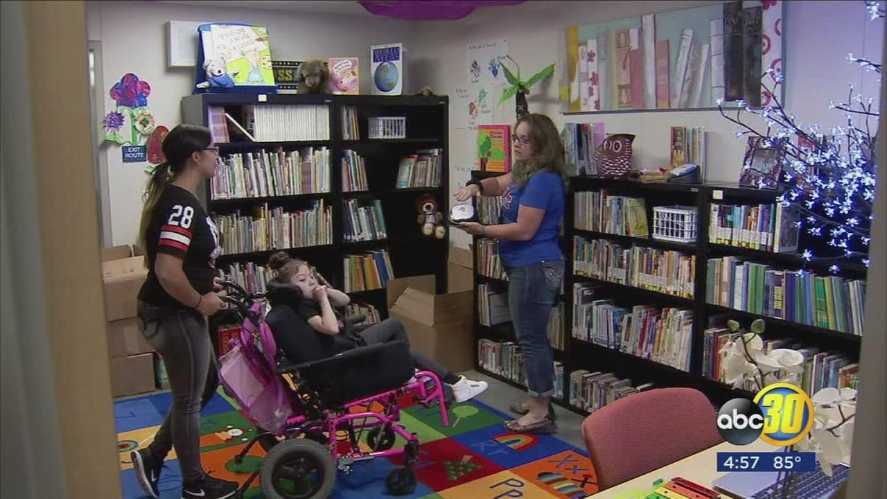 Fresno elementary that serves students with severe disabilities opens first library in schools history