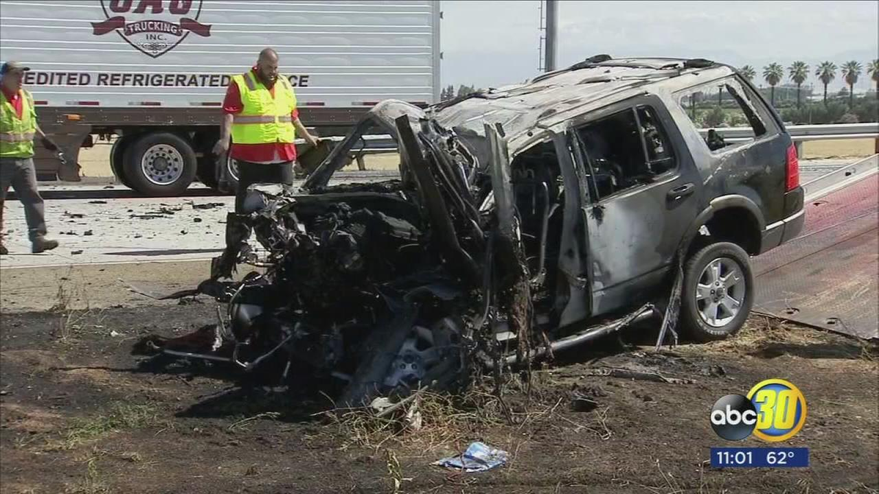 One person dead after crash on Highway 180 in East Central Fresno
