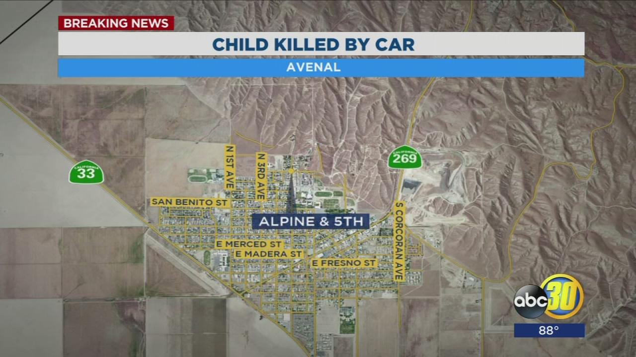 2-year-old killed after being hit by car in Avenal