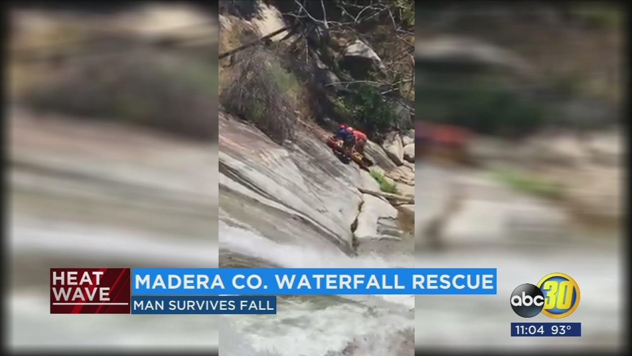 Bay Area man rescued from Angel Falls near Bass Lake