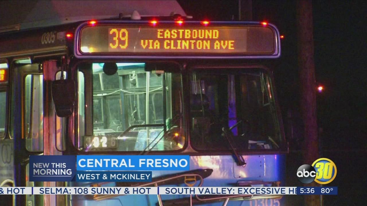 Two injured after crash involving FAX bus in Fresno