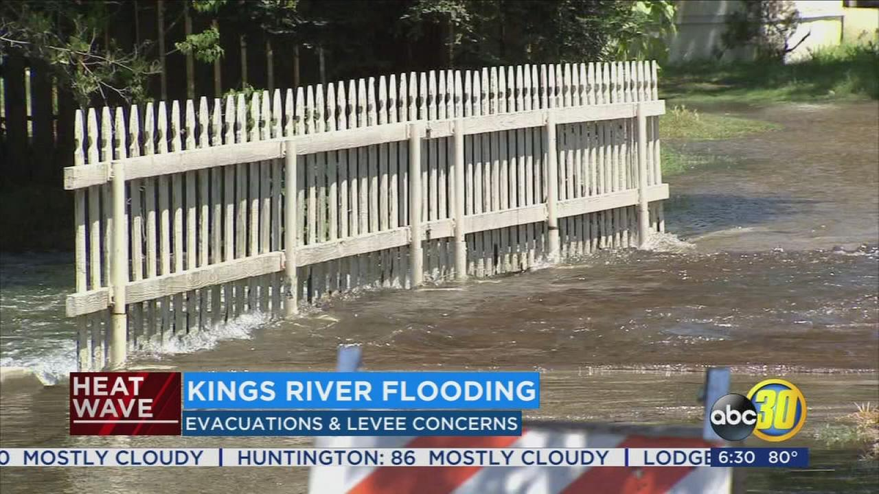Extreme heat has the Kings River running high and fast