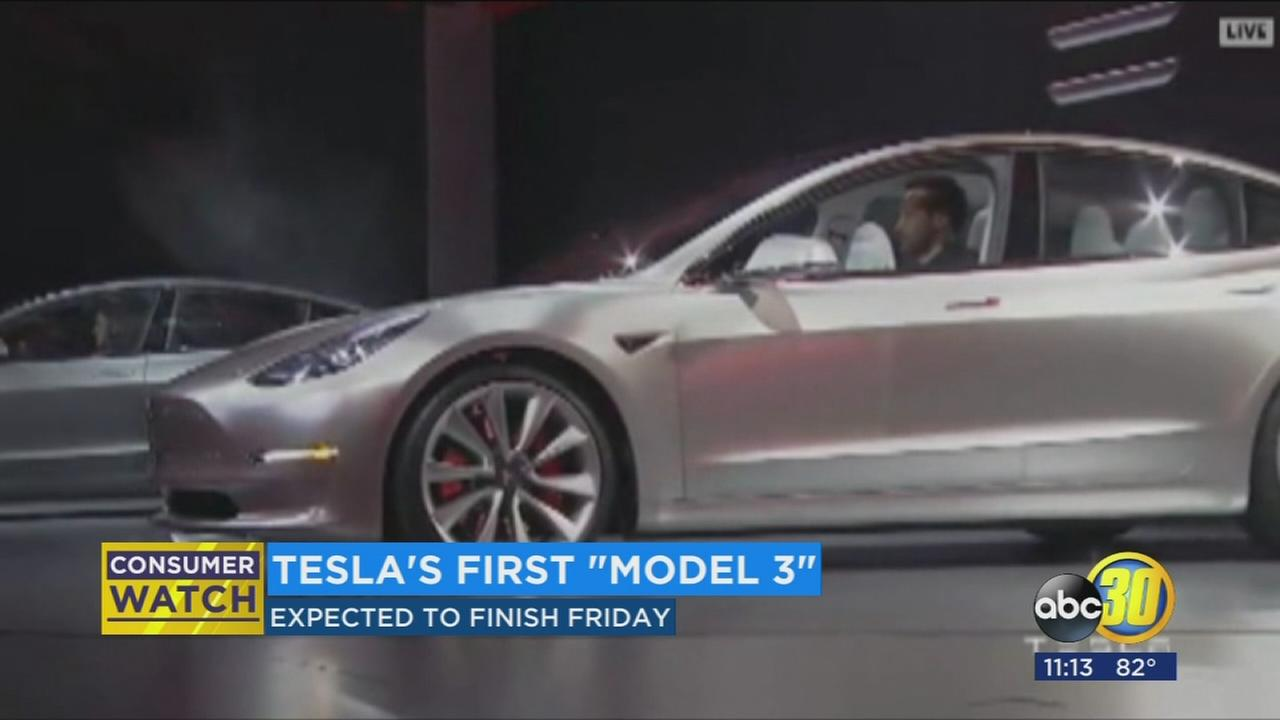First Tesla Model 3 expected on Friday