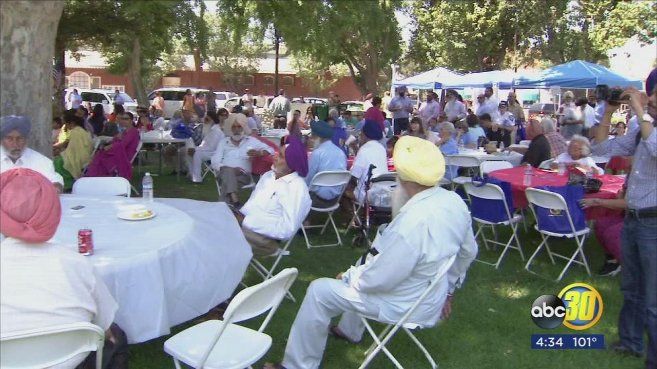 Sikh community gathers in Selma park to promote tolerance and religious freedom