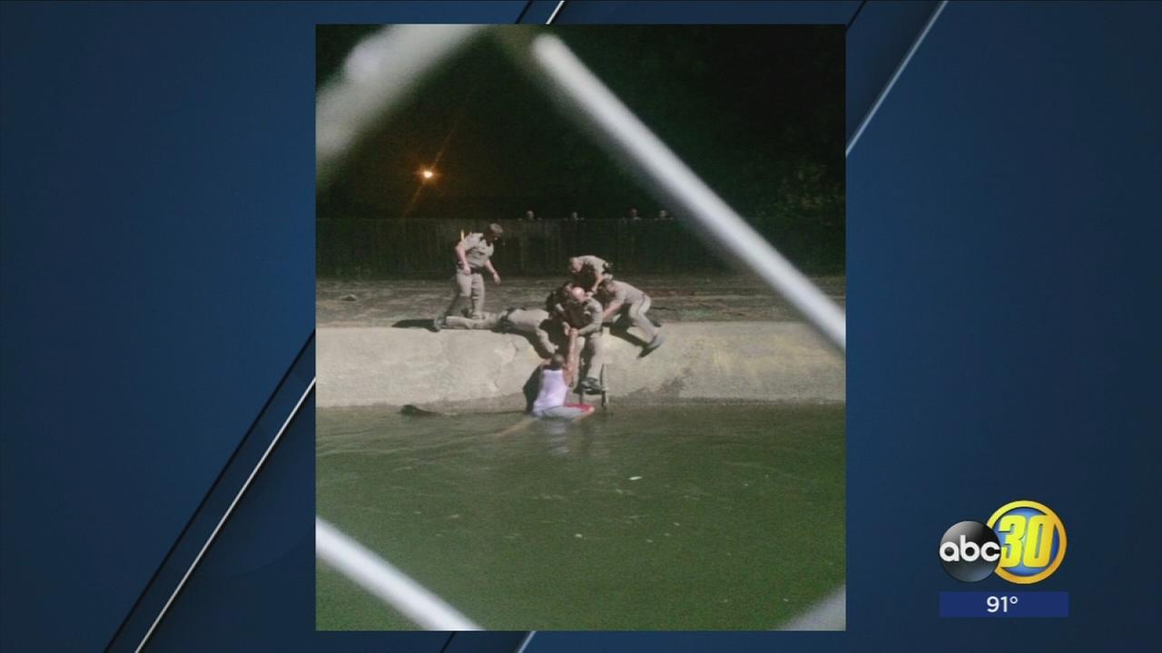 CHP Officers save man from canal after high-speed chase in Fresno County