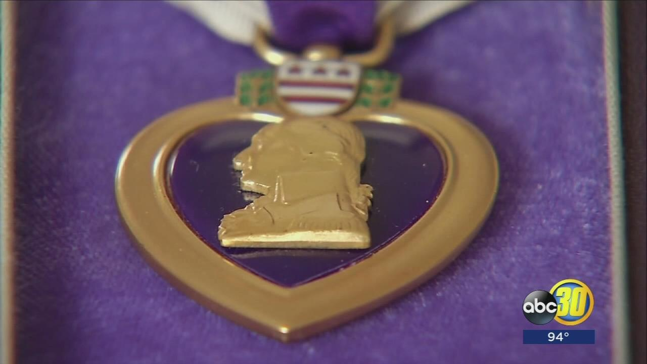 Fresno couple asking for the return of WWII Purple Heart after it was stolen on the 4th of July