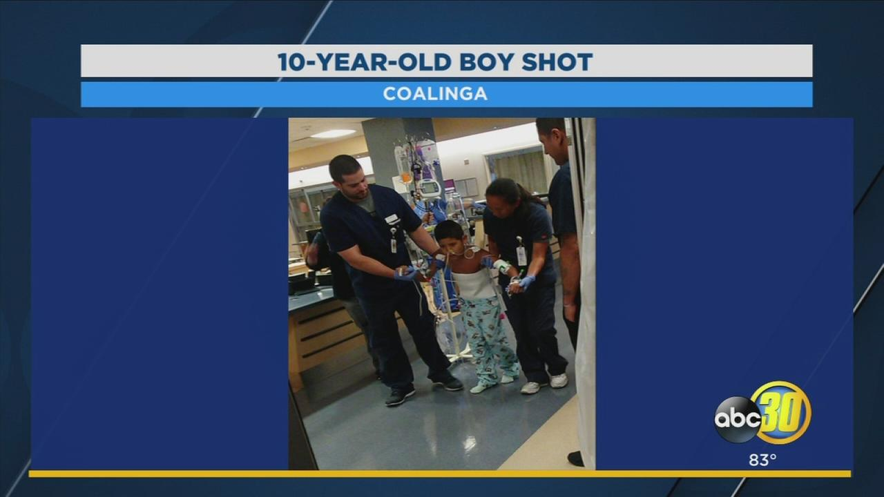Family posts photo of Coalinga boy recovering in hospital after shooting
