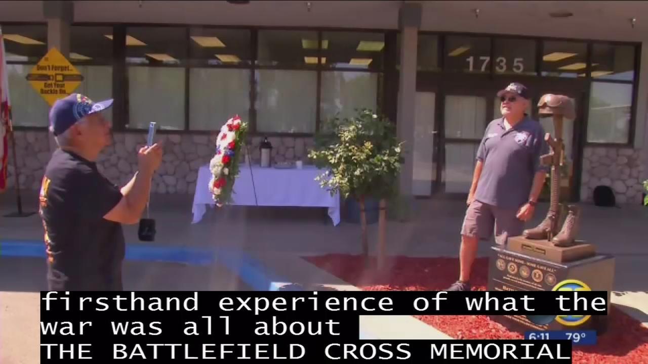 Battlefield Cross Memorial unveiled at La Sierra Military Academy