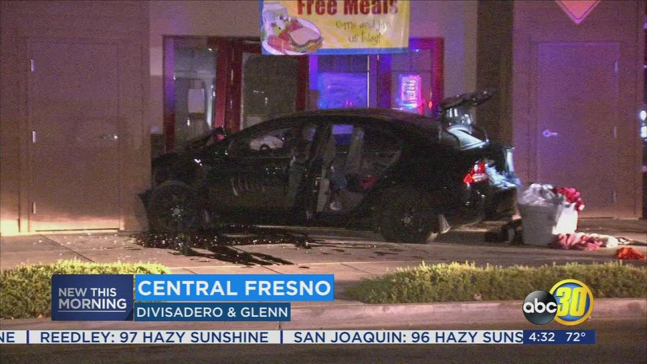 Teens crash into community center trying to evade police