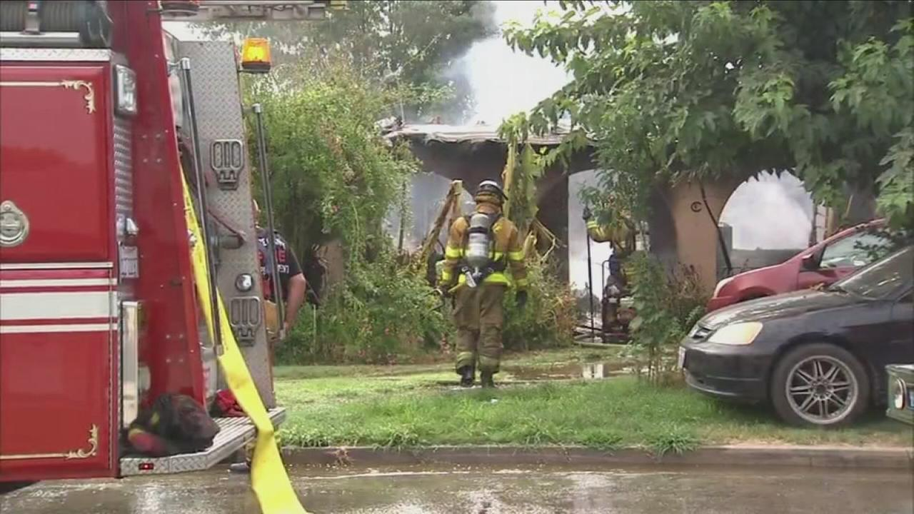 Fire destroys Tulare County home