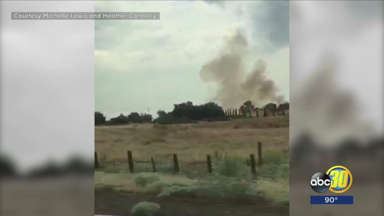 Lightning strikes across Madera County spark multiple fires