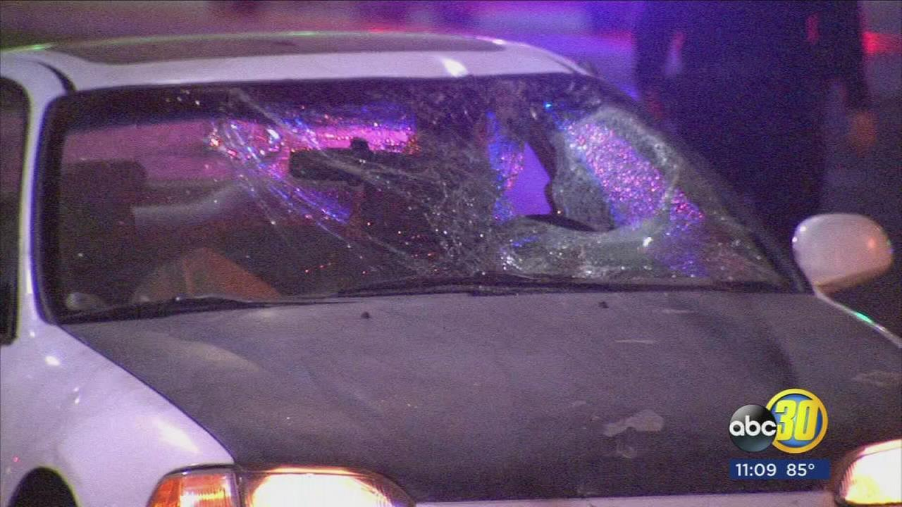 Pedestrian, believed to be drunk, hit by car, Fresno Police say